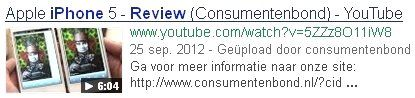 YouTube optimalisatie Consumentenbond